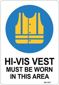 Hi-Vis Must Be Worn Sign
