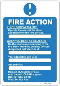 Fire Action - When you hear a Fire Alarm