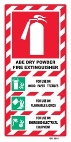 Fire Extinguisher Dry Powder Sign