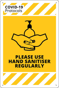 Please Use Hand Sanitiser Regularly