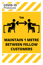 Maintain 1m Between Fellow Customers