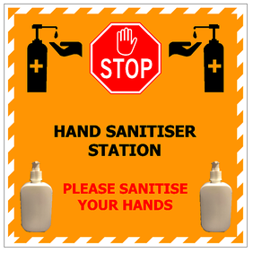 Hand Sanitiser Station with 2 x Brackets & 2 x Empty Pump Bottles