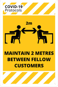 Maintain 2m Between Fellow Customers