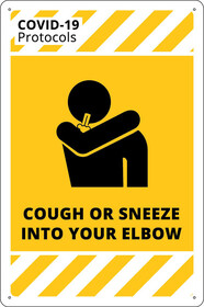 Cough or Sneeze Into Your Elbow