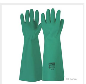 Green Nitrile Gauntlet Gloves 45cm