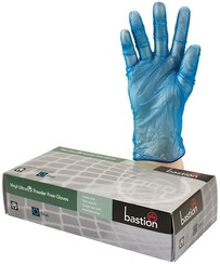 Bastion Vinyl Clear Powder Free Gloves are a low-cost disposable glove option for lower risk work e