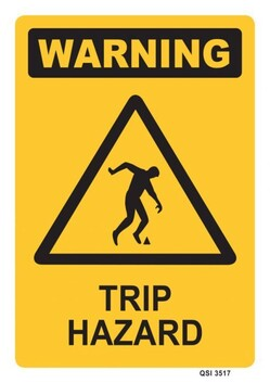 Warning - Trip Hazard Sign