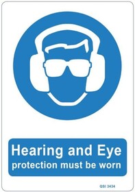 Hearing and Ear Protection Sign