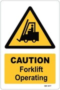 Caution - Forklift Operating Sign