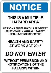 Multiple Hazard Sign